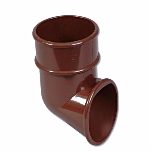 Round Down-Pipe End Shoe Floplast Brown RB3