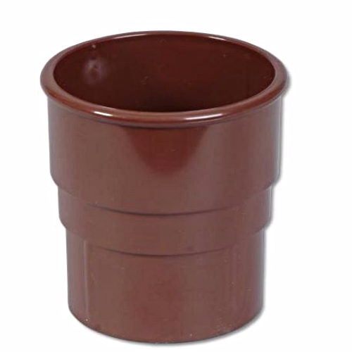 Round Down-Pipe Socket/Joint Floplast Brown RS1