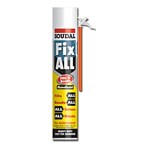 Soudal Fix All Fills And Bonds Expanding Foam Hand Held 750ml