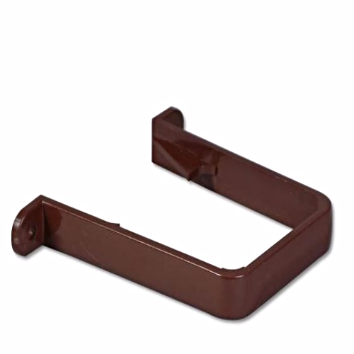 Square Down-Pipe Clip Floplast Brown RCS1