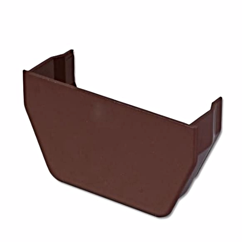 Square Gutter Internal Stop End Floplast Brown RES2