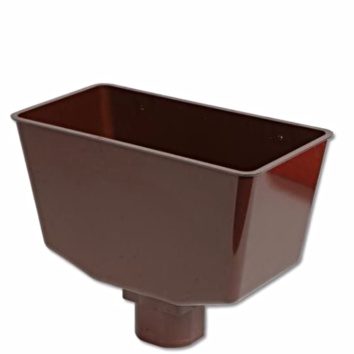 Square Round Gutter Hopper Head Floplast Brown RHS1