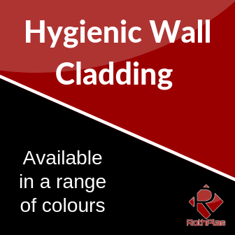 Hygienic Wall Cladding - Fast Delivery in a wide range of colours