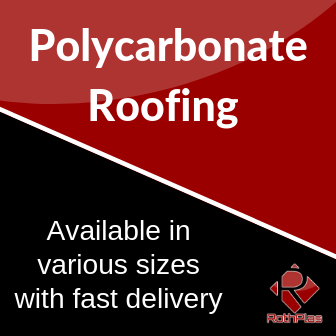 Polycarbonate Roofing Available in various sizes with fast delivery.